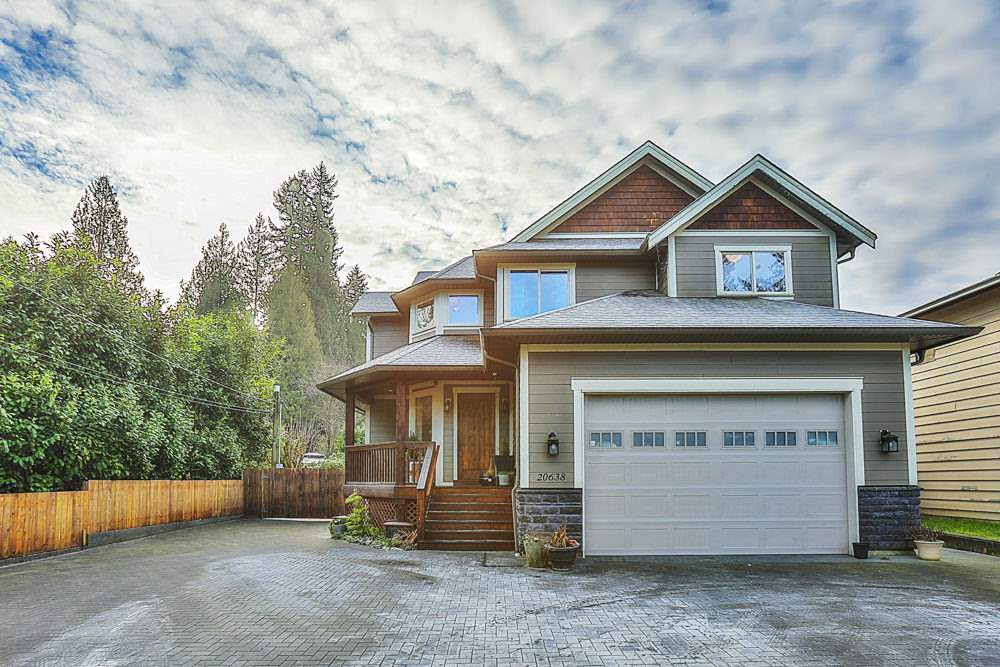 FIRST TIME ON THE MARKET! This 10 year old, almost 4000 sq.ft. home sits on a flat and useable 14,400 sq ft (1/3 Acre) lot in most desirable Northwest Maple Ridge location. Great Room style, open concept main floor with Awesome entertainers kitchen and high vaulted ceilings. Real oak floors, Quartz counters, high end finishing throughout. Upstairs is a seating/reading area at the top of the stairs and 3 massive bedrooms including a huge master suite with 5 piece en-suite and Romeo & Juliet deck to below. Basement is currently unfinished, but offers a separate entrance, and would be great for a mortgage helper. Large 22x22 Attached garage with over-height ceilings, plus bonus detached 3 car garage, ideal for hobbyist or home based business! Lot could accommodate a Detached Garden Suite.
