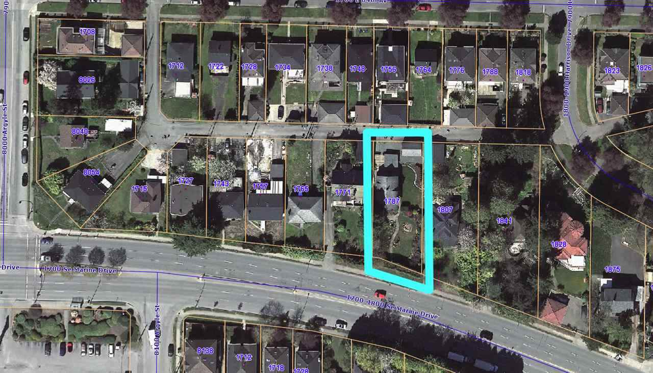 Excellent opportunity here for Investors and Developers!  This large 9350 sq ft lot is being offered as part of a potential land assembly with excellent holding value along Marine Dr.  The current home is in great condition and offers great rental revenue.