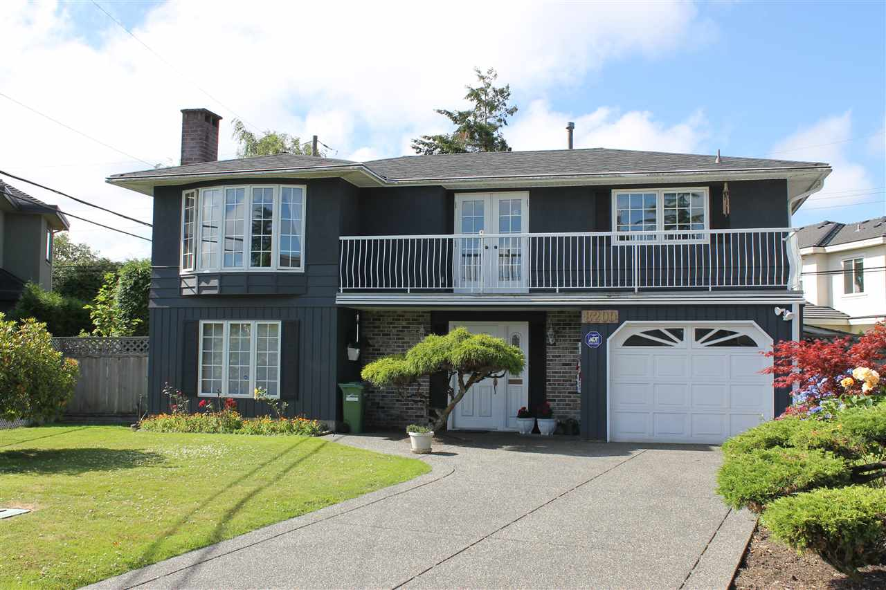"Nice Home + Big Lot + Great Area = Fabulous Value! NOT A TEAR DOWN, home has been lovingly maintained through the years by original owner. Great Street Appeal on perhaps the nicest street in desirable ""Seafair Estates"" which features sidewalks, curbs. Lots of updates: Wood frame windows (Bay window in L.R.) and french doors, gleaming original hardwood floors, oak kitchen, 2 gas fireplaces, hi efficiency furnace, exposed aggregate driveway. Huge sundeck in backyard features peek a boo view of Dyke and Georgia Straight and overlooks easy maintenance artificial grass backyard. Tons of storage spaces and workshops. Steps from Dyke walk, and Gilmore School (French Immersion). Also a Stair lift for elderly buyers. Tremendous family home for smart buyers to raise their kids while lot value grows!"