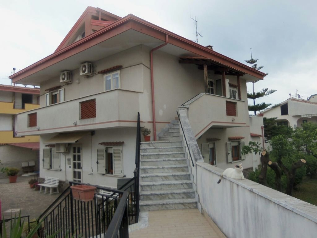 Own and rent this owner/builder triplex in Binova, Calabria, a city on the Tyrrhenian Sea, just a few minutes walk to a white sandy beach. Situated on a large 12,486sqft property with orange, lemon, peach and plum trees, the main house is 2554sqft. There is also a 376sqft guest house on the property. Main house has 3 2 bedroom suites all with A/C and all appliances including washerrs. Each Suite has it's own separate entrance.  Bivona is 20 minutes from International Airport. It is 290km southeast of Rome. It is also 20 mintue drive from Tropea, a beach town which is one of Italy's best kept secrets, and stunningly beautiful. A great home in a great country with great weather!