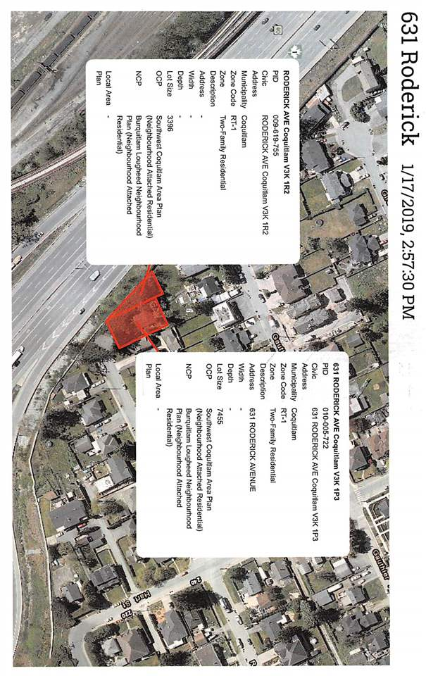 This is land only. Attention Builders Lot is 7455 sq ft with also a change to purchase a piece of land from the City of Coquitlam which is next to the lot (3396 sq ft). Maillardville zoning will be changing check with city for details.