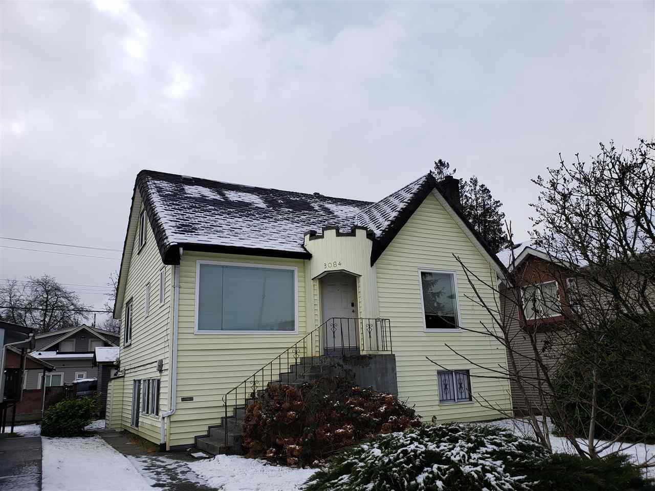 INVESTOR ALERT!! Character 'Mediterranean Style' home in the heart of Renfrew Heights area. Owner occupies and serves licensed Bed and Breakfast with great revenue. Spacious living with 2 bedrooms on main. 2 generous sized bedrooms plus den (could be a 3rd bedroom) on upper floor. Basement suite has separate entrance. Only minutes walk to Superstore, Canadian Tire, Walmart, SkyTrain & all amenities. To move in or to hold for future development. Please do not walk on the property or disturb the occupants.