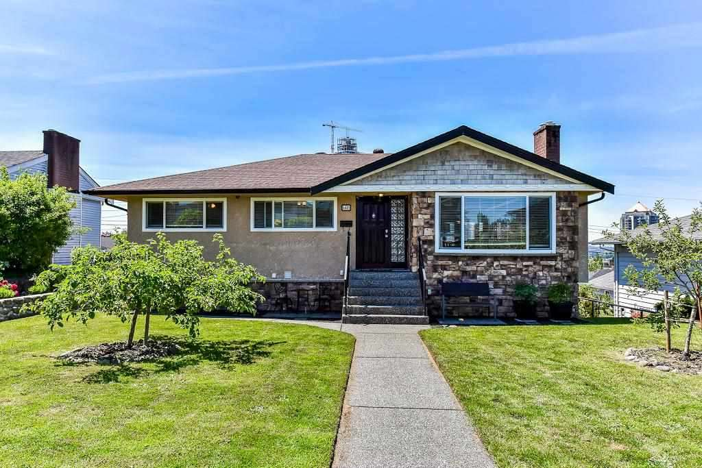 COMPLETELY RENOVATED inside & out over yrs on the BEST street in Brentwood Park. 6 bdrms & 3.5 baths! 3 bdrms & 1.5 baths up w/refinished OAK floors, lots of built-in cabinetry along living & dining rm, CUSTOM gourmet KIT granite tops & maple cabinet, H/W floor & double crown mouldings on Main, Downstairs 2 bdrms & 1 bath for owner self use plus another 1 bdrm, spacious kitchen & 1 bath SUITE. EXTENSIVE UPDATES incl newer roof, redone exteriors stone & brick, paved patio & walkway, redone drain tiles for whole house, soffits, gutters, double-glazed windows w/screens, rewire 100AMP electricity, security sys, pot lights, on demand h/w & more! Enjoy S. facing yard. Walk to Brentwood Mall, skytrain, Holy Cross private school.