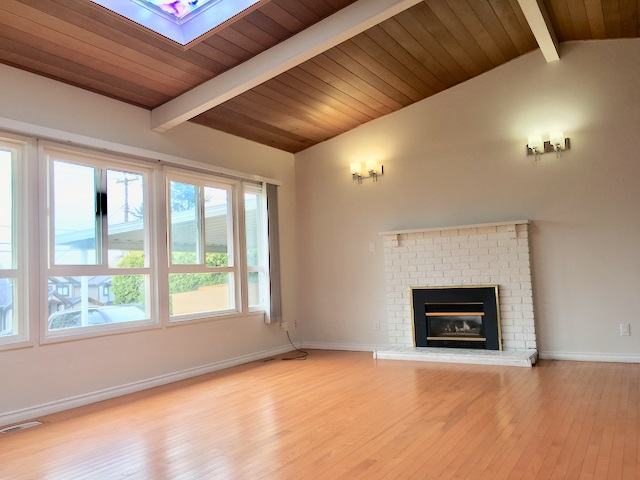 1600 Sqft spacious 3 bedroom 2 baths Rancher with very generous size family room. Hardwood flooring, skylight,  fireplace and much more. Currently rented for $2500+Utilities to nice tenants. Over 6800 sqft lot Live in, rent out or build 3 level home approximately 4500 + garage. RS1 Zoning on this lot will allow (2 storey home maximum 3047 sqft + Basement) + 452 sqft garage, confirm with Corp of Delta. Very convenient location for public transit.