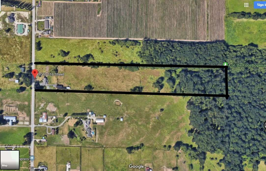 17.85 Acres with large 3,858 sqft 2 storey home. Only 5 min drive to Murrayville centre and 10 mins to Downtown Langley. This land has been free from chemical fertilizer and pesticides for the last 10 years. Perfect for organic farming. Drilled well supplies plenty of water from 325 feet below. Large barn w/hay loft, including a walk-in cooler & 5 horse stalls, workshop & lots of storage areas. Main floor features formal living room, dining area,family room, eating area, wood fire place & large kitchen with full appliances and lots of cabinets. Upper floor has large master bdrm with balcony & en-suite, 4 more good sized bdrms & a very large flex room. Good location with lots of potential.