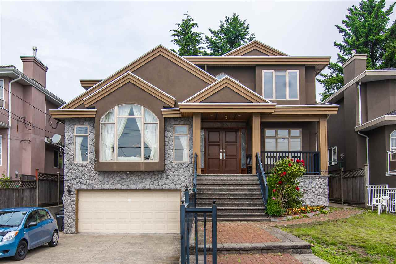Builder' home! This beautiful customized home located in desirable quiet street in East Burnaby. The bright mansion is sitting on the high side of the street w/city views on a big 7546 sqf lot. It offers quality European styling finishing with functional layout, grand high ceilings in the foyer, highlighted French windows, open concept kitchen boosted by grand island with quartz counter tops, Wok kitchen and a good size den. A bonus 250+ s.q.f. fully covered deck overlooking the fenced flat yard. 4 bedrooms & 3 baths up. Potential 3 mortgage helper in basement. Central location, close to St.Thomas, Our lady of Mercy, John Knox, New West. Sec.(IB), Community Center, Metrotown. Ideal for family or investor. No for sale sign, No open house, call listing agent for showing.
