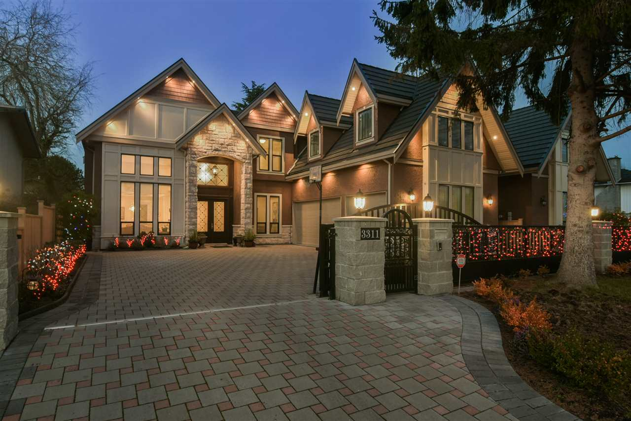 Prime location, luxury design & quality built, 3 years young and shows like new. Open concept, Classy & elegant, 3,410 sq ft. Triple garage with full attic above. 5 bedrooms(4 ensuited up & 1 down), den & home theatre. 10' ceiling thru-out, 16' in living & family rooms, 12' ceiling in upstairs hallway. Gourmet kitchen & wok kitchen, high end Jenn-Air appliances. Electrolux gas cooktop in wok kitchen. Home theatre with wet bar. Spa-like master ensuite has steam & rain shower, jetted tub. Covered balcony off Master bedroom. Air-conditioned, radiant hot water heat, HRV, built-in vacuum, video security system, electric gated, auto lawn sprinkler. Move in & enjoy, must see!