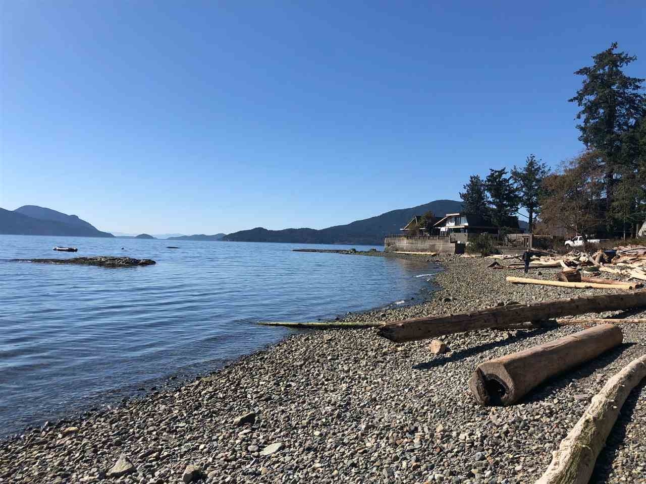 Amazing and rare opportunity to build your dream home on a south facing, semi-water front property in the cottage-like community of Brunswick Beach. Gorgeous island and ocean views. Large, level lot and level beach front in the calm and sheltered Alberta Bay, making this one of the best Brunswick Beach lots and locations. Enjoy kayaking, beach-coming, swimming, fishing and boating only a few steps out your front door! A perfect getaway, only 25 minutes to downtown Vancouver. Or better yet, live here year round and be only 60 minutes from Whistler too. No sign on property. Land value - dwelling as is. Please do not disturb tenants or walk the property without permission, thank you.