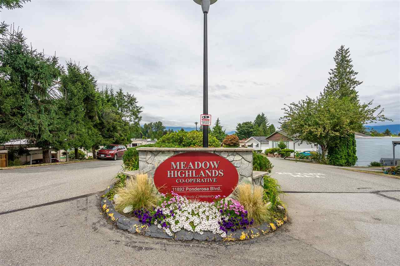 This is your chance to get into the sought after MEADOW HIGHLANDS CO-OP. Looking for a community to call home for years to come? This is a well run, friendly Co-op and you will save huge on pad rental - only $247 which includes garbage pick up and use of the recreational facilities including an indoor pool, tennis courts & clubhouse. This 2 bedroom home is already wheelchair accessible. The bathroom features a walk in shower with rain head. Fantastic location close to shopping, transit, WCE, dentist, Golden Ears Bridge, Lougheed Hwy & parks! Want something Newer and Bigger? You can bring a new mobile home and replace this one and still Save! Don't miss your chance to get into this one-of-kind Co-Op! OPEN HOUSE SUNDAY OCTOBER 20th 12:00PM to 1:00PM