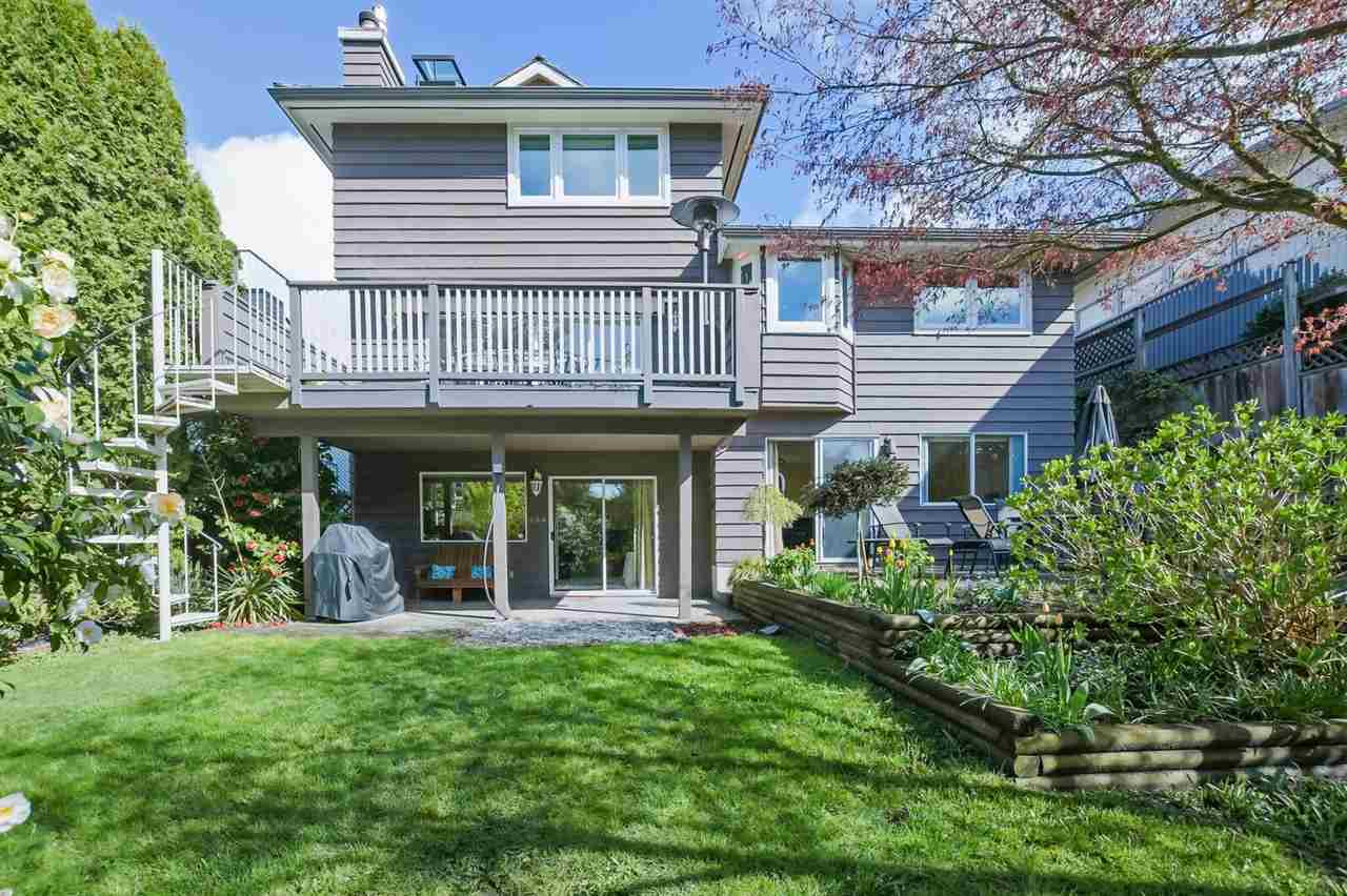 Welcome to Lockehaven Place-Deep Coves street of dreams! This fabulous southern exposed executive home ticks off all the boxes for family living. Features 3 bedrooms up with beautiful master bedroom, luxurious ensuite and a full second bathroom. The main floor offers a beautiful formal living room with hardwood floors, updated gourmet kitchen with quartz countertops and Wolf stove leading to lovely sunken great room with cosy fireplace. Downstairs offers a large walk out basement with a bedroom, rec room and media room. There is plenty of storage along with a double garage for all of your toys. The backyard is lovely and private- perfect for gardening/ entertaining and offers plenty of space for kids and pets to play. Easy walking distance to both Cove Cliff and Seycove Schools