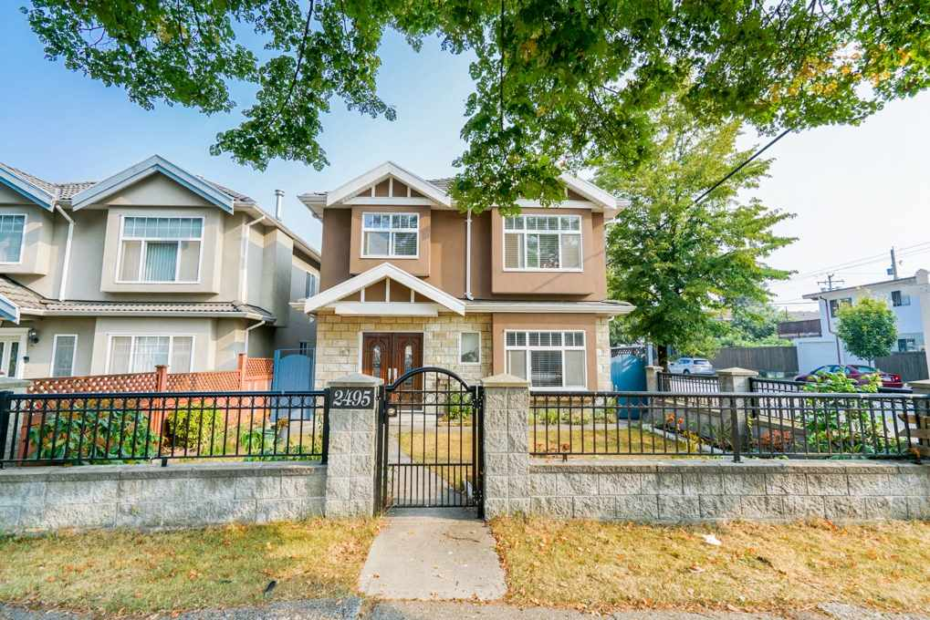 This 2 stories beautiful owner-build home locates in the quite Collingwood neighborhood, great location which is close to everything: schools, shopping, restaurants, public transits, parks and so on.  Well maintained by the owner with 6 bedrooms, 3 above, 3 on the main floor. Main floor include a legal 2-bedroom suite with the address #4983, great mortgage helper. Ideal floor plan on every floor, fully fenced yard, solid 2 car garage with extra parking in rear, private balcony, fantastic front & back yard spaces. Must see!