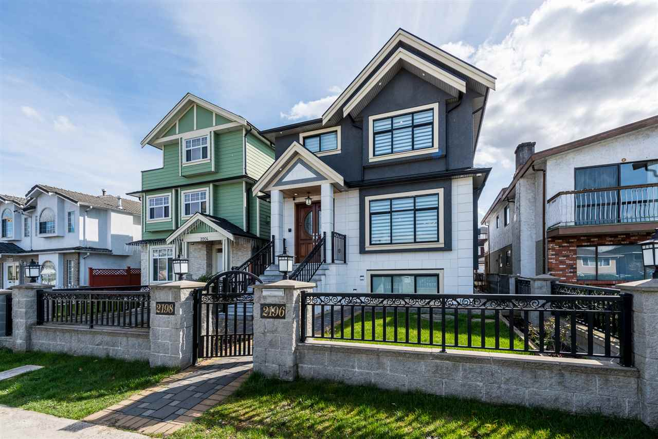 Beautiful well kept custom built home by original owner.  Great craftmenship.  Homes features 6 bedrooms/ 7 bathrooms and 3 kitchens. Home at 2711 sqft. 3 master bedrooms above all with ensuites and own balcony.  Main floor features living room, family room and gourmet kitchen, enjoy evenings on your covered deck or large private patio.  Ample parking, detached 2 car garage with lane access, park upto 5 cars.  2 - 1 bdrm suites below, great mortgage helpers.  Home with radiant heating and A/C throughout, video surveillance, close to  everything, shops, schools, transit.  CALL TO VIEW TODAY!!!!!
