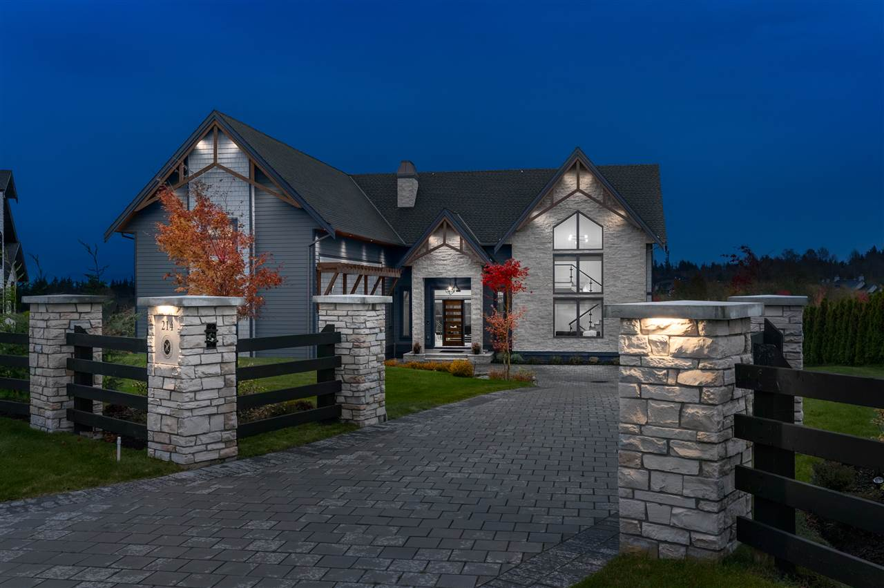 Architect-designed 3 level LUXURIOUS estate with breathtaking MOUNTAIN & POND vistas on a 32,000+ SF lot in South Langley?s prestigious equestrian community of HIGH POINT! Main level boasts a double height vaulted great room featuring a foldable glass wall, opening to an oversized viewing terrace with a fire lounge, gourmet kitchen & spice kitchen - fitted with Miele & Wolf appliances, formal dining room w/ butler?s pantry, office w/ flex space, & impressive 2 storey library! Upstairs features a contemporary 2 floor master bdrm w/ spectacular views. Huge 2nd master & 2 additional large bedrooms all w/ ensuites & a functional laundry room. Bright walk-out basement features large living/rec room, bar & wine cellar, a private gymnasium, theatre room & 2 additional guest and/or nanny bedrooms.
