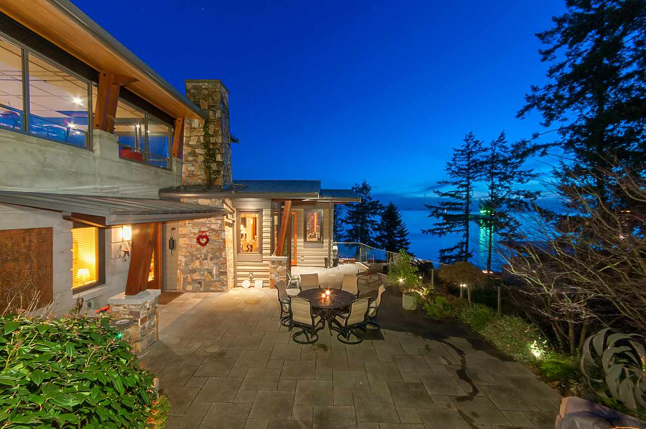 Spectacular close-in ocean views from this semi-waterfront 13 year old home on one of West Vancouver's most desirable streets; Sunset Lane.  Custom designed by award winning architect Rositch Hemphill, this beautiful 4 bedroom family home offers the absolute best in finishes featuring eclipse doors, over height ceilings, wood floors and a view for your car. Fabulous decks for barbecuing and enjoying the sound of ocean waves.  Within walking distance to lovely Dundarave village this is West Vancouver living at its best.