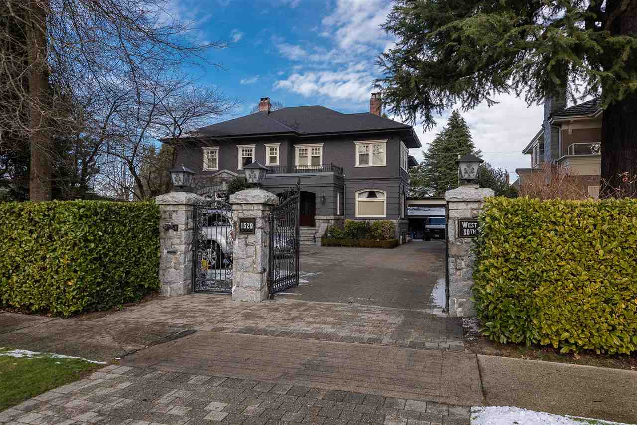 Stunning Shaughnessy masterpiece sits on a large 110'x140' (15,400 sf) lot. In the last 10 years over $2.5m was spent in meticulous renos/additions/updates to this spectacular 6,400 sf home with ultimate in detail & design. The main floor features H/W flrs thru-out, Schonbek chandeliers, spacious living rm, dining rm, 2 adjoining solariums that overlook a beautiful entertainer's Maui hula-hula concrete and stone paradise complete with O/D swimming pool. waterfall fountain hot-tub, professional BBQ kitchen, large concrete patios with multiple fire pits, great for entertaining guests. Gorgeous chef's kitchen & wok kitchen w/granite counter tops, travertine flr & top of the line S/S appls, 5 ensuites bdrms up + library, deluxe master bdrm ahs a sitting area & balcony.