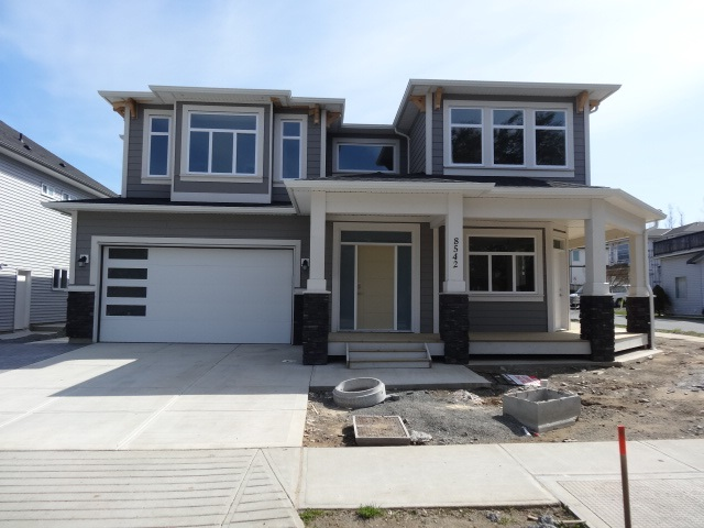 Immediate Possession for this Brand new house  Built by established Builder with full warranty . Very Open ,Spacious and bright house comes with total 6 bedrooms , 4 full baths, One gas fire place, 9ft ceiling , wrap around balcony at front. Large Master bedroom with walk in closet and 4 piece ensuite.  Large tile entry , Laundry finished with large counter and cabinets for detergents. Large kitchen loaded with cabinets with island in the Middle off large Family room. Covered  Sundeck.  2 Bedroom legal suite with own Laundry and separate entry and separate Parking. Over 3800 sqft total including Garage. Excellent location close to all service