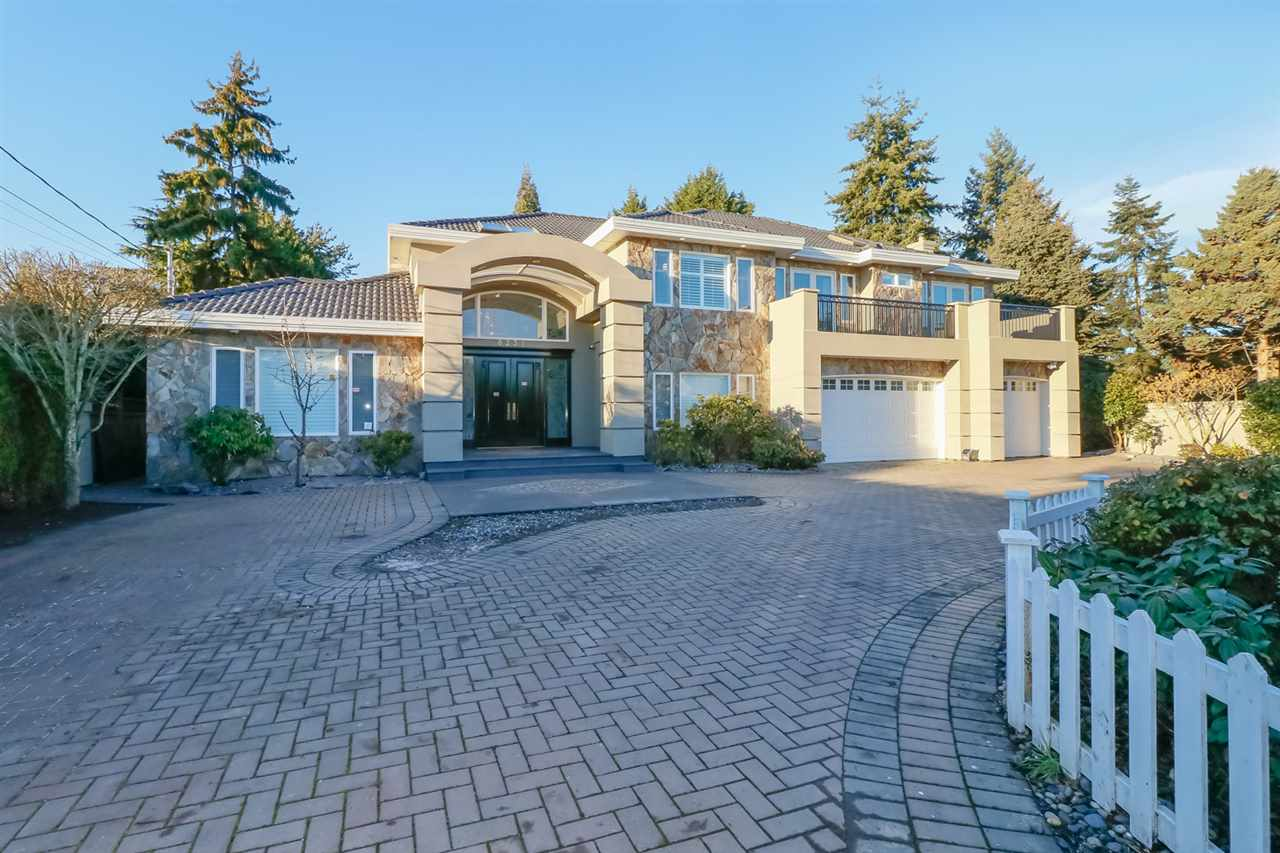 Rare find architectural & designer's mansion in Central Richmond with 19875 sq ft huge lot & 7142 finishing area! Wellmaintained 21 years home with quality workmanship, 6 bedrooms +2 dens +8.5 baths + 2 kitchens. Grand foyer, 16' high ceiling living room, magnificent drop ceiling & tons of crown mouldings, granite counter tops, radiant heating, 3 car garage, lawn sprinkler system, professional designed waterscaped rock garden w/5 waterfalls, fish ponds & sport count, indoor swimming pool, swirlpool, sauna, wet bar, steam bath, exercise room, double insulated home theatre, 6 bdrms all w/ensuites. Potential 7th ensuite. Walking distance to schools, shopping center & transportation.Monday 1:00 pm ---2:00 pm  June 1st open for showings by appointments.Please call to book !