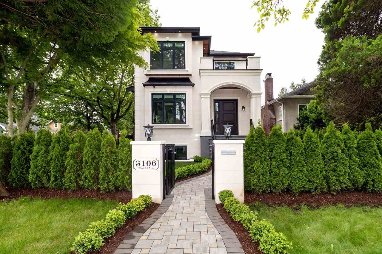 Absolutely stunning 3 level custom-built corner lot home in prestigious Kitsilano! Three br on upper floor w/ en -suite , lower level has 2 bdrm w/ separate entrance & rec room plus 2 br laneway house.Rec room can be converted to theater room w/rough-in surround sound system and  wet bar.   Main floor boasts 10'6 height ceiling & 9ft on upper & lower level. Open layout with plenty of room for entertaining. Features radiant floor heating including laneway , AC, control 4 panel, engineered hard wood flooring, HRV, built-in vacuum, , security & surround sound system. Chef's delight kitchen with Sub-zero fridge, cook top Wolfe gas stove, Miele DW, built-in microwave, wall oven, quartz counter top, kitchen island & a bonus Wok kitchen. 2-5-10 NHW.  Close to Kits SS,Carnarvon elem,WPGA & UBC.