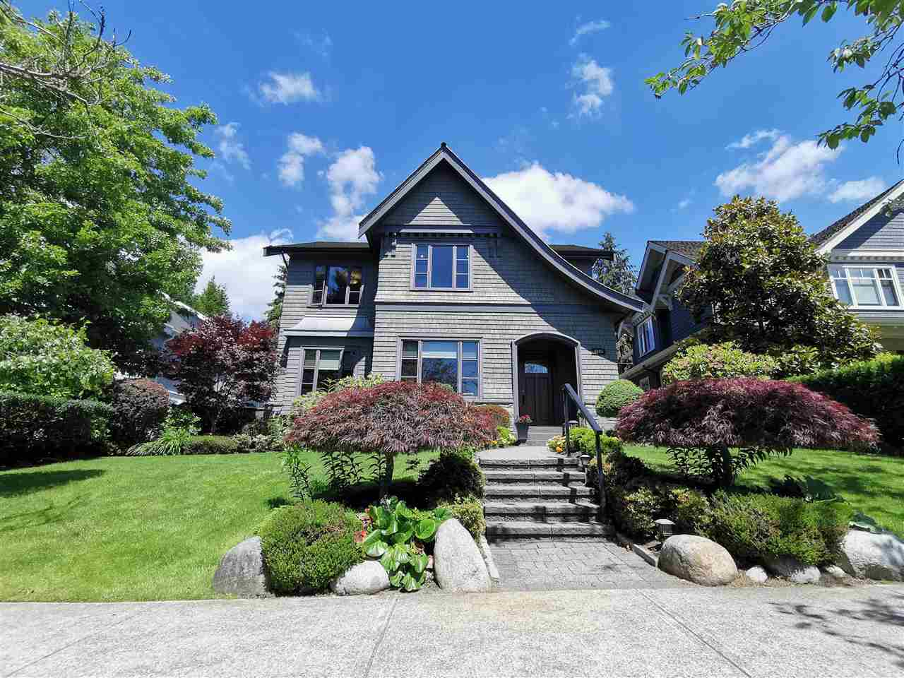 Welcome to this gorgeous home located in most prestigious neighbourhood in Vancouver's prime  west Dunbar . Large land of 6983 sq ft (52' x 134.27') with 4892 sq ft stylish family home, designed by Rafaela and built by WST. Total 5 bedrooms and 7 bathrooms. Main level entertainment-sized living, dining & family room plus a gourmet kitchen and wok kitchen equipped w/ high-end appliances. 4 large ensuite bedrooms upstairs. Lower level with recreation area, home theatre, wine cellar, cigar room and one ensuite bedroom. Built-in smart home system,  security system, A/C, HRV and Radiant heating. Beautifully landscaped lot just steps away from Pacific Spirit Park, close to BC top schools: St.George's, Crofton, York House,  UBC. Must to See !
