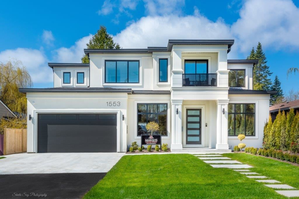 """Luxury, Contemporary, Lottery Show Home by Marquis Custom Homes! Boasting a modern, sharp, contemporary exterior, you say """"wow"""" just at the curb appeal. Then, entering the foyer you sense the grandness of this magnificent, open flr plan of over 5700SF, 10 ft ceilings on main, a 20 ft height Great Room & custom designed feature fireplace, incredible kitchen island centering a chef's delight of appliances, large dining area & access to a fabulous covered, entertainment outside lounge & fireplace. Upstairs features 4 lrg bdrms all with ensuites & lavish master suite offers a spa style ensuite, designer closet & a private, artificial turf balcony. Down extensively designed to be completely open for grand entertaining that must be seen to appreciate !"""