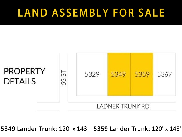 REDEVELOPMENT OPPORTUNITY. Property must be sold with 5359 ladner trunk. Two Property combine to have around 17,000 sq. . Please confirm with the city of delta for the possibilities. The property is located beside ladner town center, super convenient. In the heart of Ladner. Growing community. Many upcoming development around the area.
