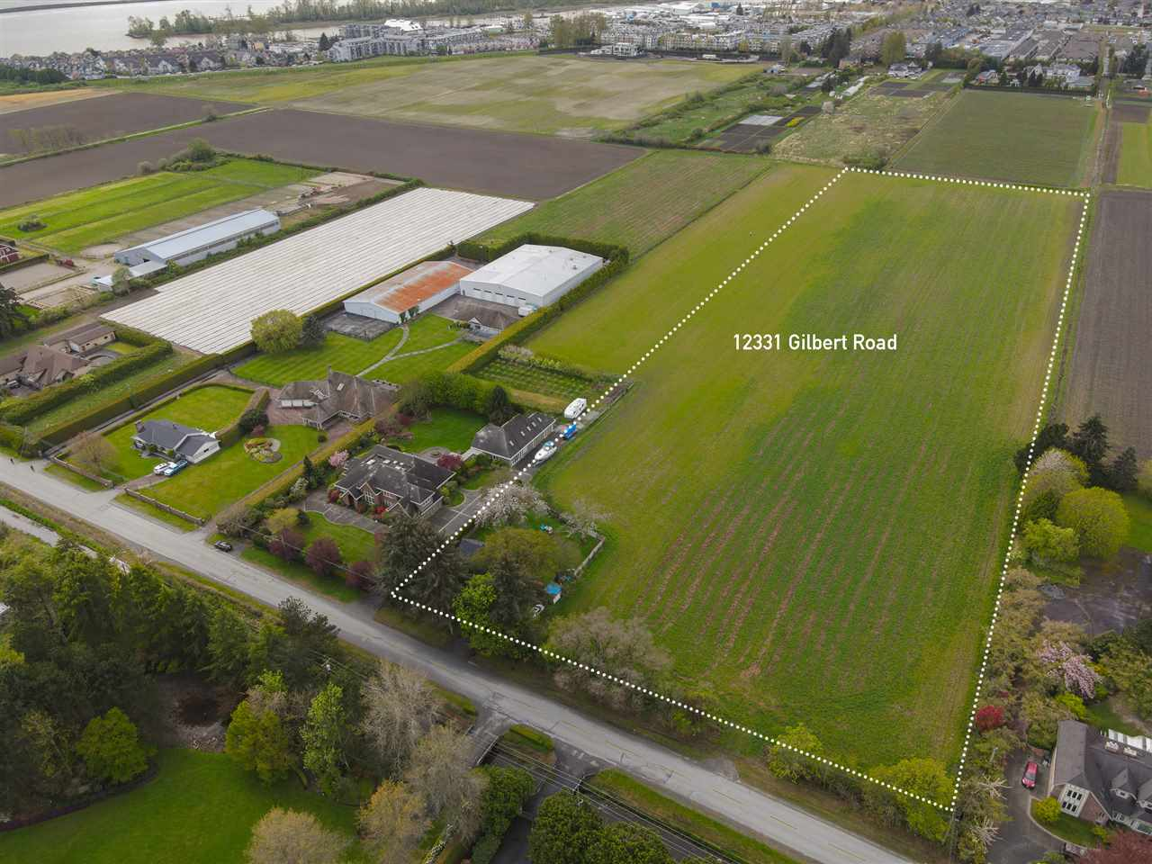 Imagine living on a farm in the city! 12331 Gilbert Rd is just 10 min drive: North to all the hustle and bustle around Richmond Centre, West to historic Steveston Village, East to access Hwy 99 to Vancouver/Delta/Surrey. This 10 acre farmland is a rare find with 353 sf frontage, it awaits your plan to build your dream family home, grow crops and enjoy life.  *great month to month tenants, please do not walk on the property without authorization.*  video: https://youtu.be/8QhTNNRfqMw