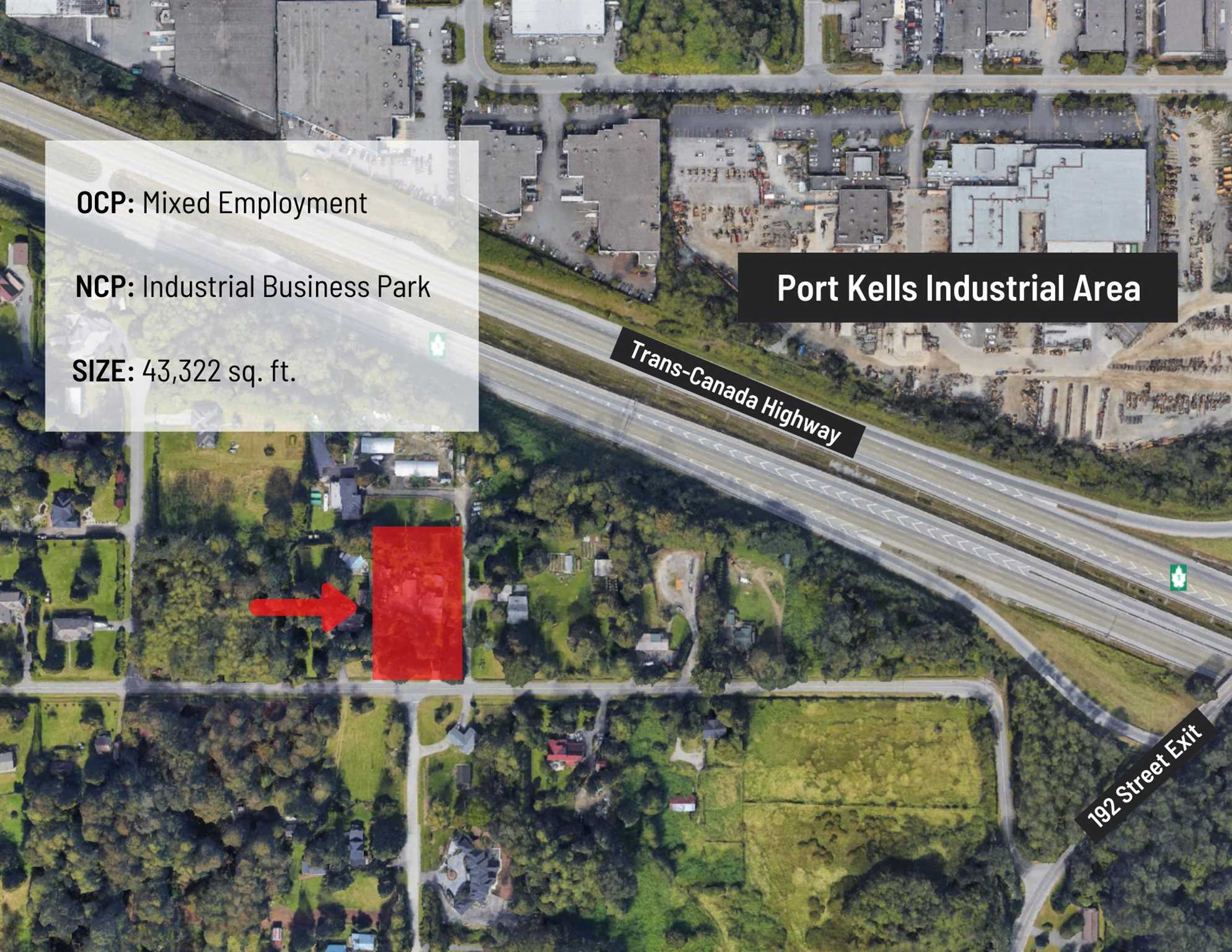 INVESTOR & DEVELOPERS ALERT! Prime holding property in the Anniedale Tynehead NCP designated Industrial Business Park which allows for mixed use office and warehouse. Minutes to Trans-Canada Highway, Golden Ears Way & the Port Kells Industrial Park. A great investment to hold and develop in the future.