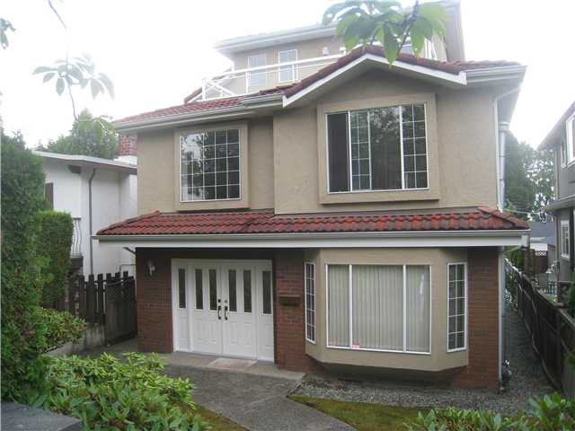Solid House in convenient SW Marine area. Easy access to bus & shops on Granville St, yet quiet, near parks & trails. One owner home, built under the old bylaws, allowing almost 4 levels of living space for privacy. Unique design includes:2 mstr bdrm suites, one on 2nd floor, one on top floor w/4 pc bath & 2 balconies (N facing & S facing) 2 connecting bdrm w/shared ensuite baths. Meticulously maintained home! Newer exterior paint done last year. Irreplaceable features include: double entry into a granite foyer w/20' ceiling, picturesque windows & a grand winding staircase. Radiant heat on all floors & Kohler fixtures & comfort & elegance. Come, see for yourself!
