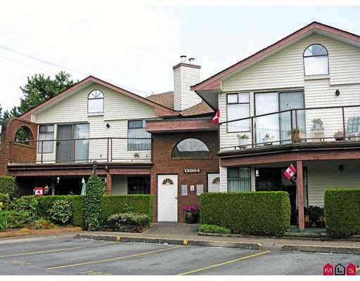 OUTSTANDING 2 BEDROOM, 2 BATHROOM ground floor rancher in gated community in Central Surrey. This 45+ age restricted complex has access to shopping mall, transportation, medical and recreational facilities. Very well maintained 1330+ sqft unit with newer paint, floors and appliances. Also included is two private patios with one enclosed as a comfortable sunroom. Amenities include guest suite, workshop, sauna, recreation and library. This spacious 2 bedroom townhome in GLENDALE VILLAGE is easy to show and will not last.