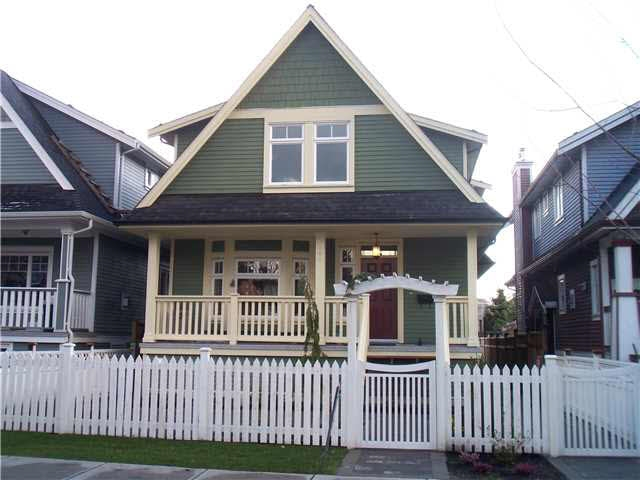 "LARGE CLASSIC HERITAGE STYLE HALF DUPLEX built by a European Craftsman, located in the top Commercial Drive area on a beautiful tree-lined street with a beautiful array of character homes! Past Duplex Project featured on ""HOME & GARDEN TV"". West Side Style and finishing throughout. Gourmet kitchen, high end cabinets, luxurious flooring, extremely detailed mouldings throughout and high efficiency instant hot water system. Basement has separate entrance. A short walk to Commercial Drive's funky shops & restaurants."