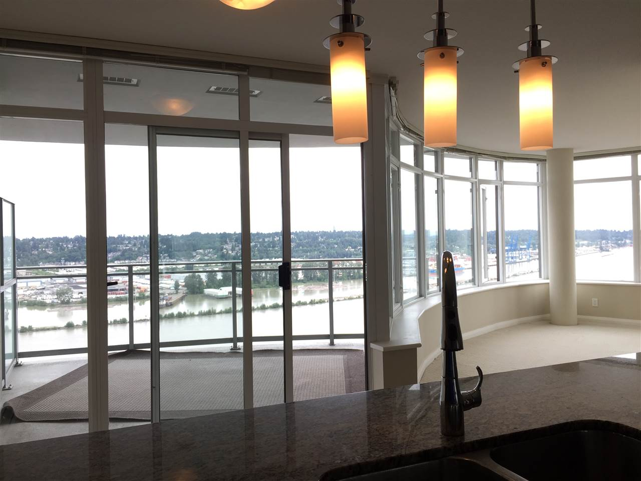 Marinus of the Plaza 88 Project just on top of the skytrain & shopping. Large 2 bedroom plus a den corner suite & a large 148 sq ft balcony with a view of the river. Stainless steel appliances & granite countertop. fast indoor access to skytrain.  Oct 22 sunday 2 pm open