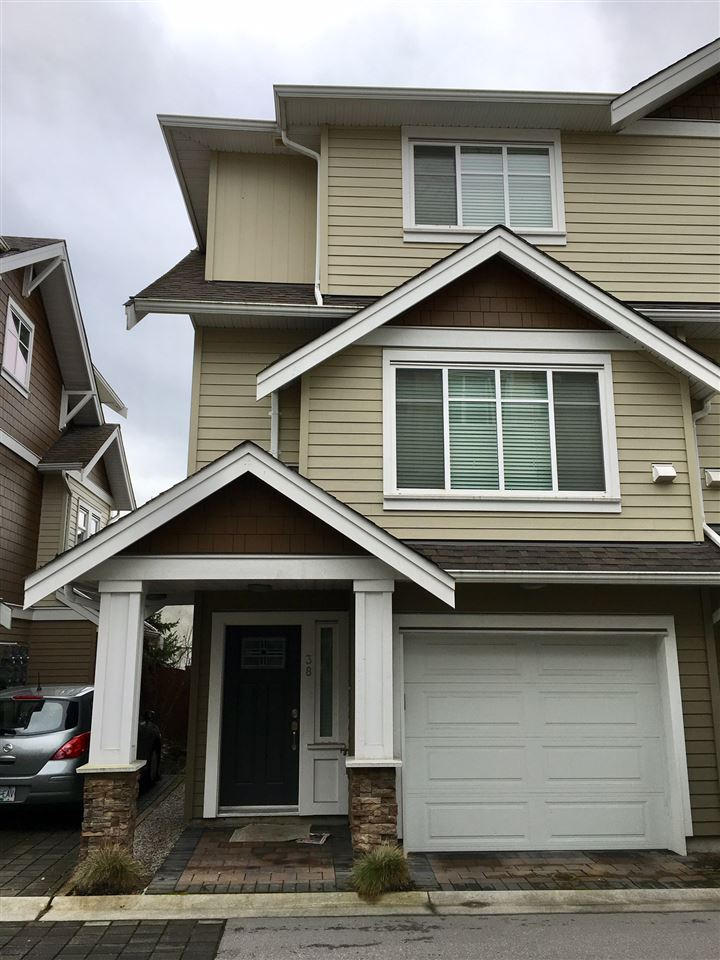 """Rarely available Southpointe Cove, built by Westmark Development Group. Well kept 3-year new spacious corner unit Steveston townhome offers a wider open floor plan, 3 bedroom, 3 luxurious bathroom features 9 foot ceilings, stainless steel appliances including a gas stove, pantry, granite counter tops & island for entertaining, glass tiled backsplash, quality laminate floors, energy efficient windows & 2"""" blinds throughout, modern fixtures, built in vacuum. There is also an extra-long double tandem garage that is great for additional storage space or office area. Easy access to the Dyke, Steveston Village, Community Centre. School Catchment: Homma Elementary and McMath Secondary. Easy to show! Act fast to make it your sweet home! Open house April 1st Sat 2-4 PM and April 2nd, Sunday 2-4 PM."""