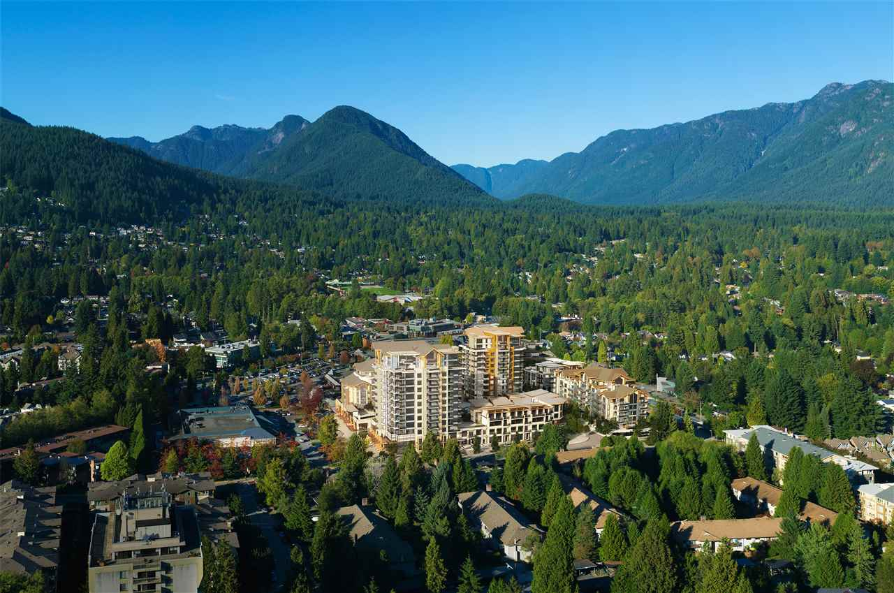The Residences at Lynn Valley by Bosa Development will redefine the heart of Lynn Valley  with 6 well designed residential buildings, over 350 homes & 47,000 sq ft of new commercial space. Phase two consists of 2 buildings with 112 homes scheduled to complete by Fall 2019. The Residences feature solid concrete construction, geothermal heating, air conditioning, smooth finish over-height ceilings, hardwood flooring, custom imported Italian cabinetry & appliances & quartz wrapped kitchen islands are just a few of the amazing features that set The Residences apart. 2 parking stalls are included with this home.