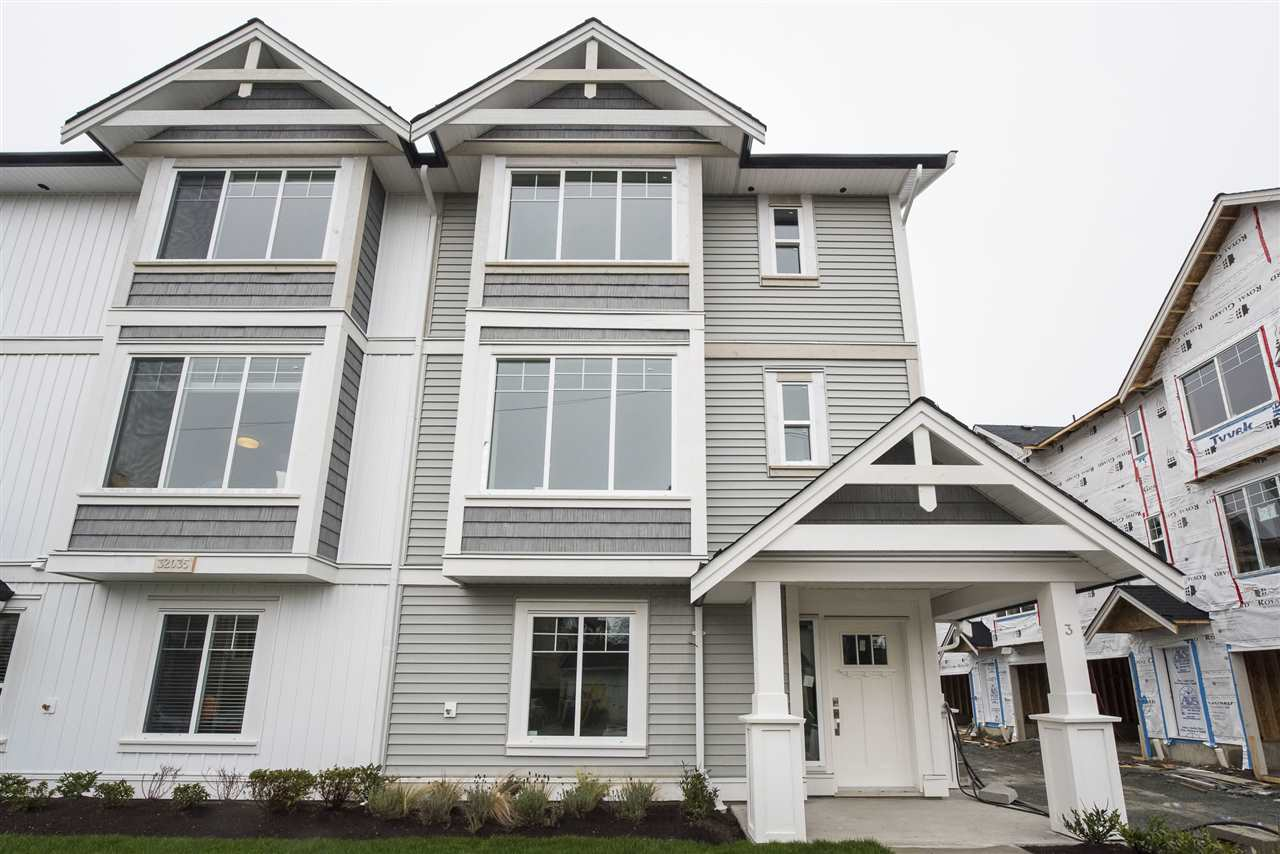 Brand New, Move-in Ready Estate Home in the heart of Abbostsford! Mt Waddington Estates boasts 19 extraordinary homes, including this 4 bedroom, 4 bathroom unit! Boasting NEARLY 1600sq ft of living space and featuring a huge downstairs bedroom, you will love living in a townhouse that feels like a brand new detached house. This exclusive property includes KitchenAid Stainless Steel Appliances, Gas range, Quartz Countertops, Soft-cring, an open concept living room and so much more! Call for your private viewing!
