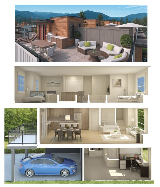 Welcome to BREEZE by Target Homes! Efficiently designed corner townhome with 4 levels of space - 3 bedrooms up, open concept liv/din/kitch on the main. Extra storage space downstairs providing ample room for all of your toys! Enjoy the incredibly PRIVATE, sun drenched sky-lounge surrounded by STUNNING views of the snow capped coastal mountains. This home offers plenty of light with 9' ceilings and large windows. Enjoy watching your children play from your suite, conveniently overlooking the large communal green space - a perfect yard area for kids or pets. Located in a pleasant, family friendly neighbourhood and a great place to call home. Close to shopping, transportation, hiking trails and parks!