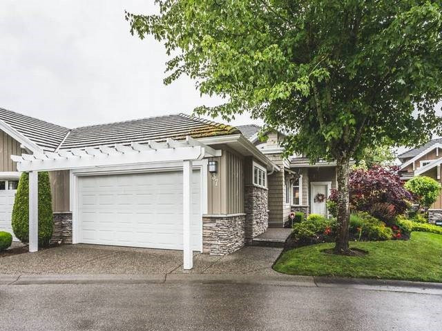 RANCHER W/BASEMT & GOLF COURSE VIEW in the GATED prestigious HAZELMERE VILLAGE, next door to Hazelmere Golf & Tennis Club. Features MASTER BEDRM ON THE MAIN, 3 FULL BATHS, 2 GAS FP's and 3460 SQ FT of spacious care free living with solid maple cabinets, high ceilings, newer H/W floors, partially fin. basement w/rec room and games room and private rear patio. Walk to the first tee/driving range or skip cooking and enjoy a tasty lunch/dinner in the Hazelmere clubhouse/lounge. Campbell River Regional Park with miles of hiking trails, the US border, White Rock beaches, major shopping and restaurants are just minutes away. 2 small pets ok. Long completion or rent-back for extended period possible. Open house Sat, June 17, 2-4 pm.