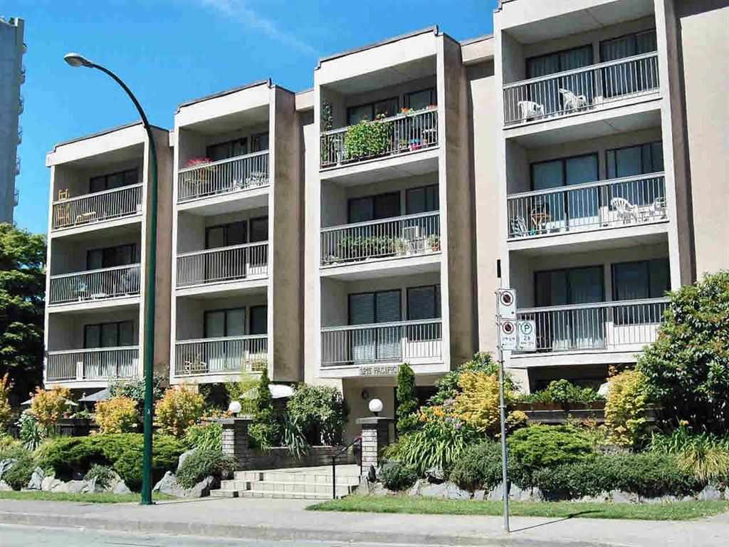 Big development potential. Imagine having easy access to the city's best parks & beaches, just outside your doorstep. Just across the street from Sunset Beach & English Bay, this 483 sft. 1BR 1bath and balcony condo comes w/ 1 storage. Secured underground parking available. Newly installed hardwood flooring. Steps from the Aquatic Centre & Seawall. Plumbing and many other updates to building completed. Well run pet friendly 50 unit condo building. Move-in yourself or Seller could stay for $1500/month. Regular rate in the building $1,200/month.