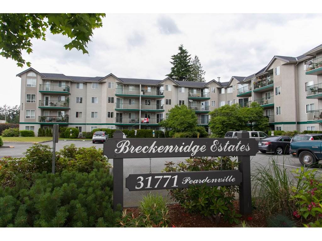 Breckenridge Estates - This home has 2 spacious bedrooms, 2 baths, living area, good size kitchen and dining space Penthouse. Lots of updates include new laminate flooring, fresh paint, newer roof and much more. The building has been very well maintained and well managed. There is a nice balcony right off the living room and an exercise room on the same floor. Close to schools, shopping, malls, parks, recreation, public transit and easy access to freeway. Easy to show.