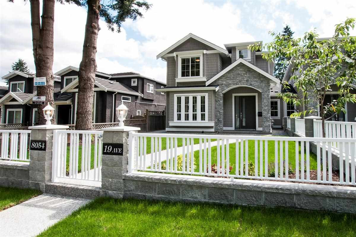 Gorgeous new quality built 1/2 duplex. Beautiful 5 bedroom 4 bath family home. Main floors offers open living & dining rooms with a gas fireplace. Spacious kitchen with large island for entertaining. Top floor has 3 bedrooms and 2 bath with a 5-pc master ensuite & large covered patio. Features engineered hardwood flooring, maple cabinets, quartz countertops, S/S appliances, HRV, hardi-plank exterior, security cameras, private and fully landscaped yard, and 2-5-10 year warranty. Located just steps to Robert Burnaby Park, a few blocks to Second Street School & public transportation and just minutes to Metrotown and Highgate Shopping & amenities.