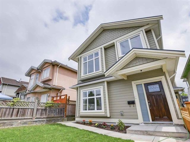 Rare opportunity to own a spacious brand new half duplex in a desirable area close to everything! Main floor features kitchen, living room, 2 large bedrooms, and 2 full washrooms. The lower level has 2 bedrooms, large rec room that can be used for many purposes (and has other potential), bar sink plus separate entry. All work has been completed with modern fixtures, good quality finishing, quartz counter-tops, hgih quality flooring and more! Minutes walk to the Punjabi market, schools and recreation. Rare opportunity to own a half duplex in Vancouver that has an option to make rental suite. This property won't last long - make your best offer!