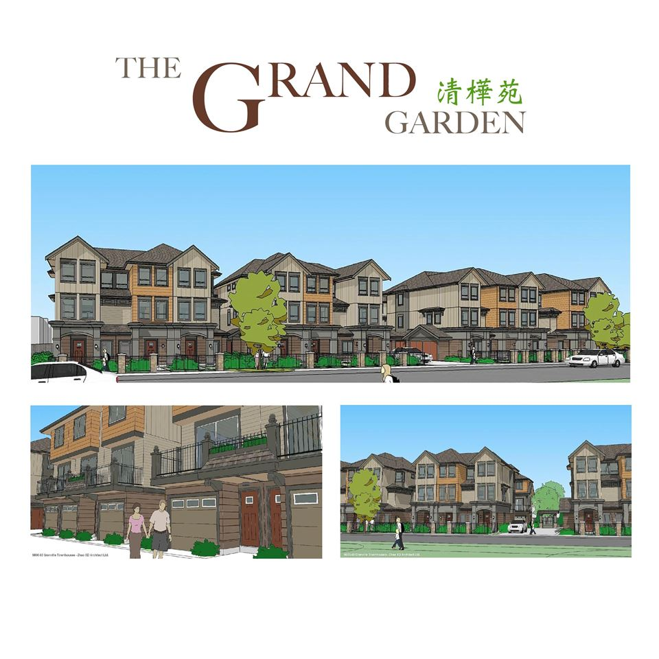 ?THE GRAND GARDEN ?? BRAND NEW LUXURY Top Quality 18 Townhouse units at very desirable ?McLennan North? neighborhood area in Richmond! Top Quality & High Finishing Standard throughout! Features with rare found WOK KITCHEN, Air-conditioning, Radiant floor heating, quality kitchen cabinet, quartz stone countertops, BOCSH and other European brand stainless steel appliances, Top quality laminated flooring, crown mouldings, Top quality fixtures, designer colour scheme and much more! Walking distance to all conveniences (Garden City Park, Schools, restaurants, shopping center?). Completion date expected at Summer 2018! Sale Center at 8185 Park Road, Richmond. Open Sun to Fri 12-5pm, Sat by appointment only!
