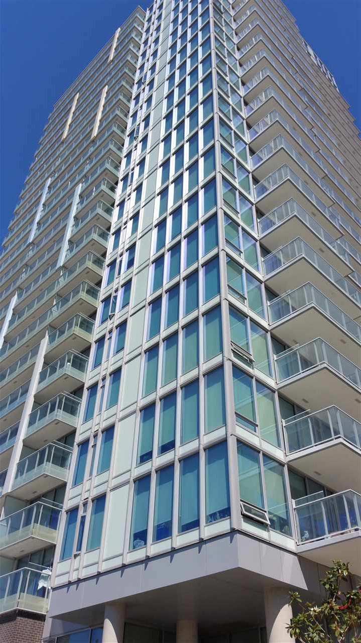 Sought after MC2 on Cambie and Marine. 2 bedroom NE corner unit with great city view. Integrated Blomberg fridge, cooktop, dishwasher & convection oven. Marble backsplash, Italian cabinets. Caesarstone countertops, Grohe faucets. Engineered flooring, and roller blinds. Unit comes with one parking stall, one locker & a separate private storage room. Oversize east facing balcony, amenities include lounge area, fitness center, zen garden & putting green. Steps from Skytrain station, minutes to YVR, and centralized to all other amenities. Ppty in like new condition. Call now for private showing! School Catchment: Sir Winston Churchill Secondary & J.W. Sexsmith Elementary