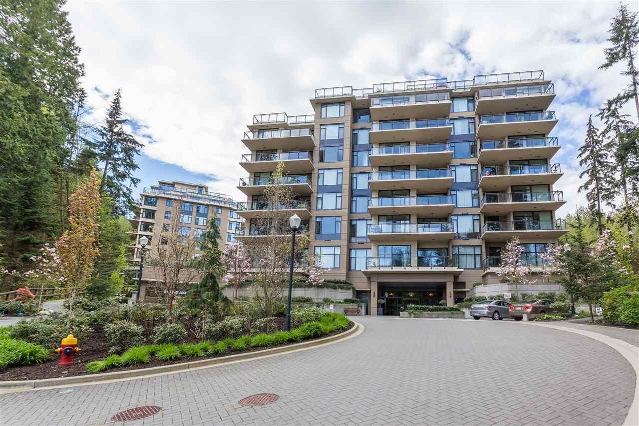 Coquitlam Center?s most luxury highrise. Nestled on famous Westwood Plateau, quality built by renowned Liberty Homes, Cascade was designed for a seamless transition from single-family to apartment living, beautifully finished inside and out, a downsizer?s dream home. Rarely available spacious 2 large bdrms + den (3rd bdrm), open layout, gourmet kitchen w/granite countertops, generous size formal dining and living room, big balcony surrounding by trees enhances your privacy. 2 extra-large parkings and one oversize storage locker. Walk to Summit Middle School, Panoramic Elem, Market Place, mins drive to Coq Center malls/restaurants, Skytrain, Lafarge Lake, Aquatic and Community Center, City Hall, Library. A MUST SEE. Don?t miss!