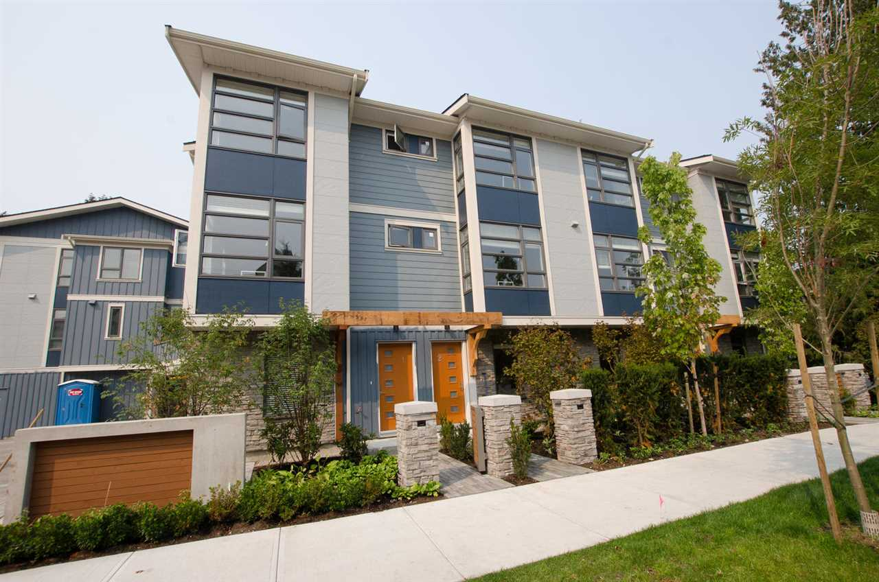 """""""Gardenia Garden"""" Brand new 16-unit town-home project built by renowned developer: Western Construction. Seller just took possession of this East, North and West facing end unit. GST already paid. Top quality 4-bedrooms, 3 1/2 baths, 2-car side-by-side garage. Spacious and bright kitchen, living and dining area. 9' ceiling, private concrete patio (16'2"""" x 7') and beautifully landscaped courtyard at level 2 of this complex. Walking distance to General Currie Elementary School and Palmer Secondary School, No. 3 Road bus stop and Richmond Shopping Centre. Quick possession OK."""