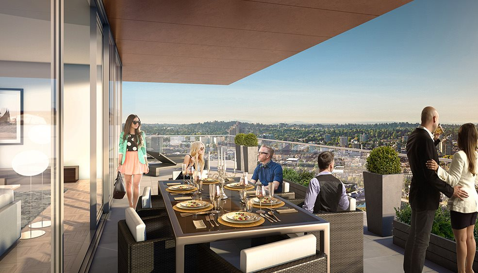 Vancouver House a total work of art set to redefine our city's skyline & raise the bar for global luxury real estate. This elegant corner 46th level home is a private oasis in the sky. Enjoy VIEWS OF FALSE CREEK, BURRARD INLET & the City from this 1191sf masterpeice with a 178sf balcony. Designed by Bjarke Ingels, a rising star in architectural firmament, built by Westbank (Shangri-La, Fairmont Pacific Rim), this LEED Platinum building offers breathtaking architecture, extremely high quality & rich amenities inc. a wellness center, 25 m. heated pool & a fleet of BMWs for reservation. Located in the thriving Beach District amidst over 140,000 sq ft. of shopping, restaurants/cafes. ASSIGNMENT of CONTRACT