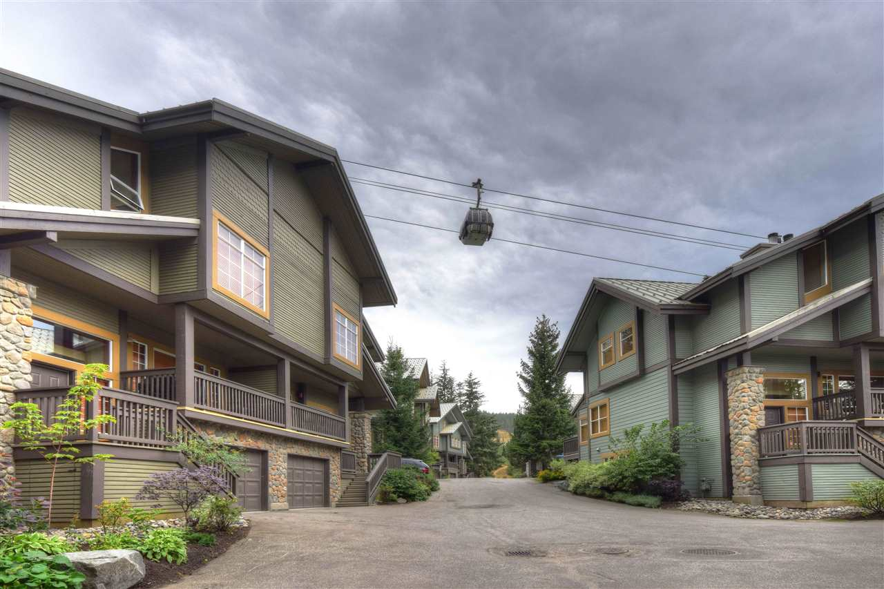 A location that can never be beaten. Snowy creek is a private enclave of 30 side by townhomes. True slopeside, for those affectionate skiers that want convenience to Whistler and Bladccomb MM, distance is measured in seconds. Or, you can walk to the village, or Fairmont Hotel within minutes. 16 Snowy Creek has 3.5 bdrms, 3 full bathrms. The main level of this townhome has open living dining and kitchen. Lower level has very large mud room, laundry and a private garage. The property is perfect for large families, or special corporate gatherings. Tastefully renovated with modem touches combined with wood accents. Views of Sproat and Rainbow Mountains.