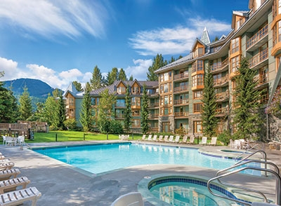Enjoy your studio suite at The Cascade Lodge with mountain views, located right in the heart of Whistler Village.  Features queen bed and convenience kitchen which includes a hot plate, bar fridge, microwave, and dishwasher.  The luxurious bathroom is accented with a deep soaker tub. The amenities include one of the largest heated outdoor swimming pools in the resort, 2 hot tubs, an exercise facility, underground parking and ski storage.  Each suite in this concrete property is air-conditioned for those hot summer days.  Great value and great opportunity to have a property in Whistler to use up to 56 days per year and generate rental income when not being used.