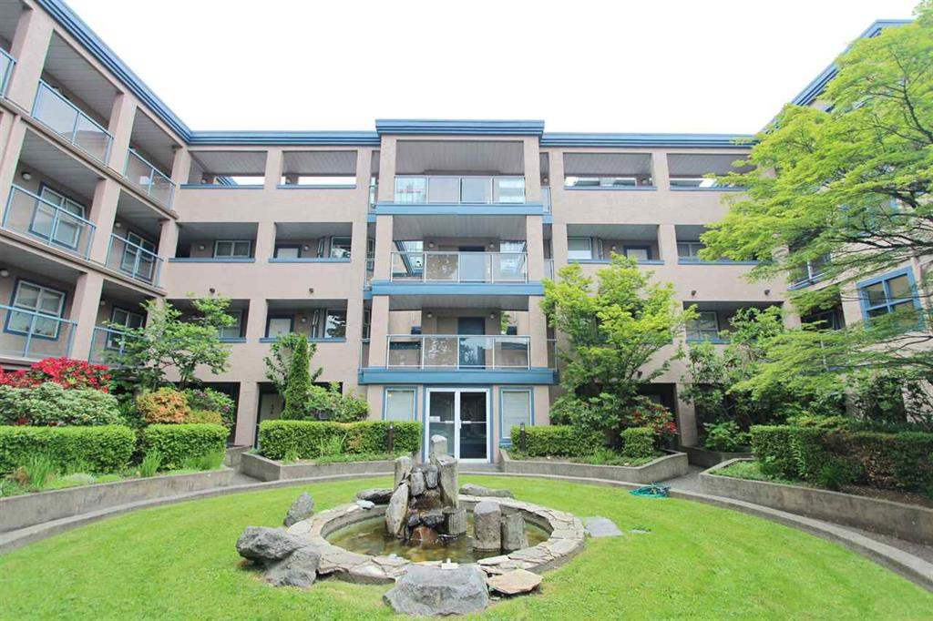 Located West Granville St. A rare opportunity to enter to Vancouver westside market. This large BRIGHT/QUIET/CORNER unit features 2 bedrooms, 2 bathrooms, 1000 SF, Hardwood flooring, gas fireplace, in-suite laundry, patio, 1 parking, 1 locker, well laid out, separated bedrooms for privacy. Magee Secondary/David Lloyd George Elementary Schools. Very convenience short walk to shopping, park & bus. Open House SUN/Sep 17th 2-4 pm.