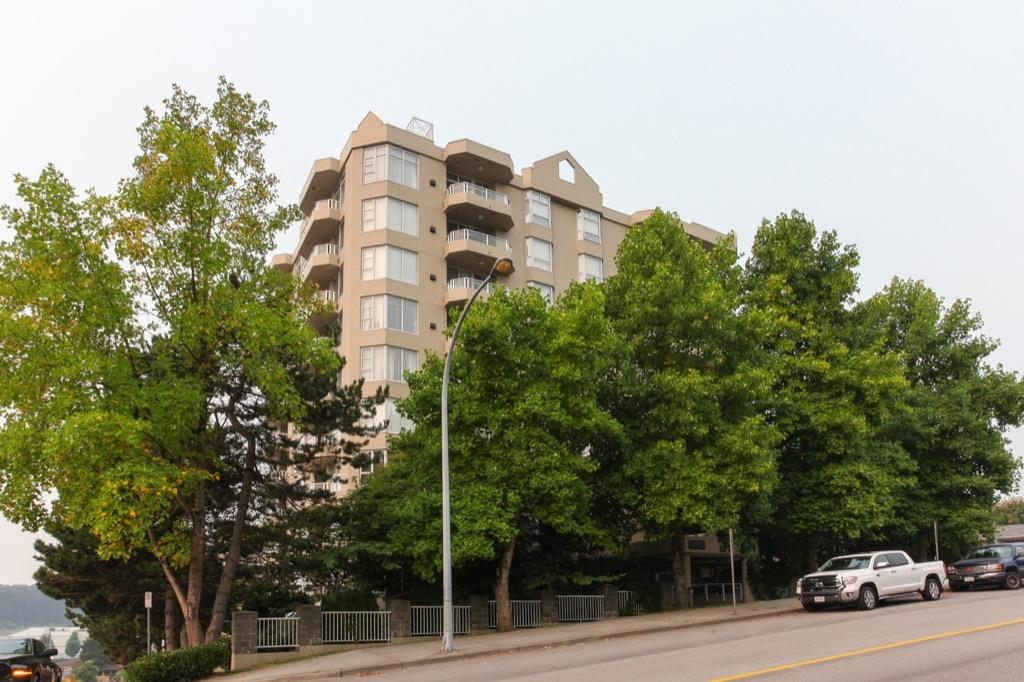Rarely available Wiltshire Heights, in Uptown New West. Beautifully kept, over 1,100 sqft, concrete high-rise, facing North to enjoy the cool breeze on your large balcony. Large 2 bedroom and 2 bathroom, featuring new appliances, new hot water tank and fixtures. Only 4 units per floor. Includes 1 parking, 1 storage. Prime location, close to skytrain, New West Quay and shopping. OPEN HOUSE OCTOBER 9,   2:00 PM - 4:00 PM