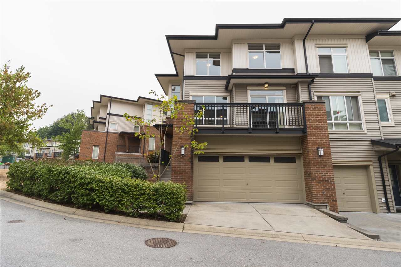 Gorgeous 4 bed 3.5 bath 1931SF END UNIT townhouse at the Kensal Walk by Polygon. Boasts 9' ceiling on main floor, gourmet kitchen with granite countertops, S/S appliances, laminate floor, bright & functional layout. 2 large balconies. Master with huge walk in closet & 5pc dream ensuite, facing beautiful greenbelt. Spacious 2nd/3rd bedroom. Fully walkout basement with a large bedroom & full bath, access to a good size back yard. 18000 SF Nakoma Club offers outdoor pool, hot tub, social room, BBQ area, basketball/badminton court, pingpong room & guest room. Walking distance to Coquitlam Centre, Lincoln skytrain, library, rec centre, & Lafarge Lake. Double side by side garage. Pets & rental friendly. Freshly painted, like new!